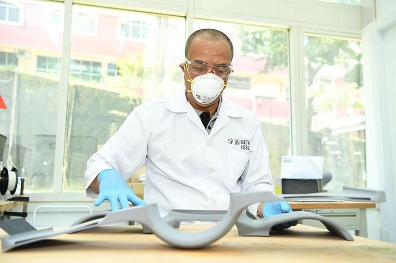Post processing of metal printed parts